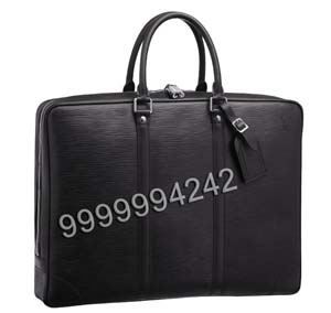 Custom Poker Cheating Equipment Black Leather Man Handbag For Card Exchanger