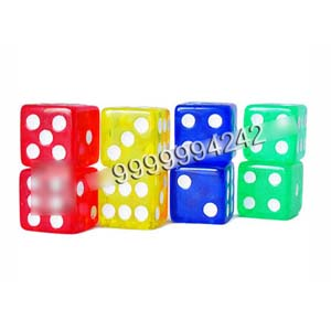 16mm Non Transparent Plastic Square Gambling Cheating Devices Remote Control Dice